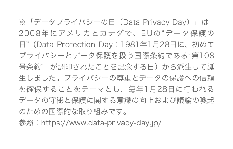 データプライバシーの日