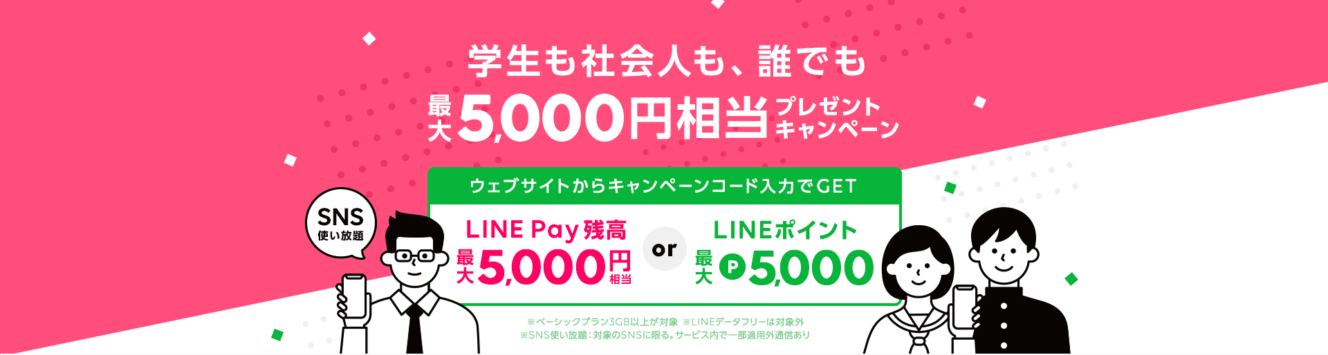 学生も社会人も、誰でも!最大5,000円相当プレゼントキャンペーン