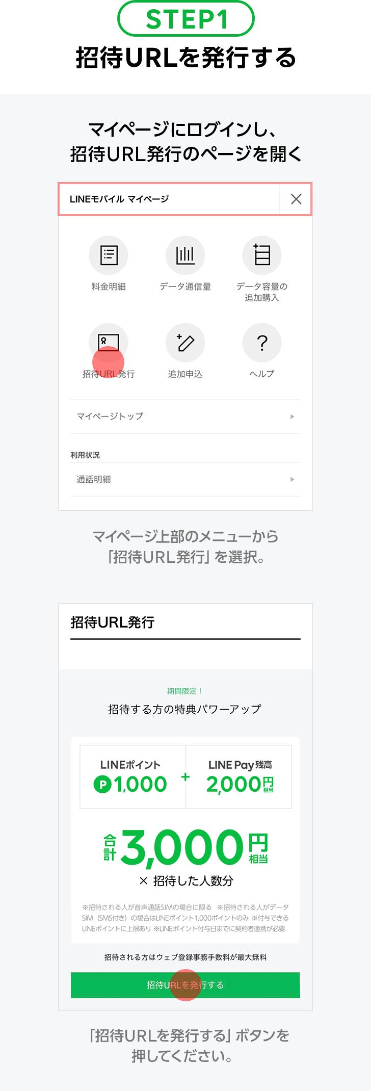 STEP1:招待URLを発行する