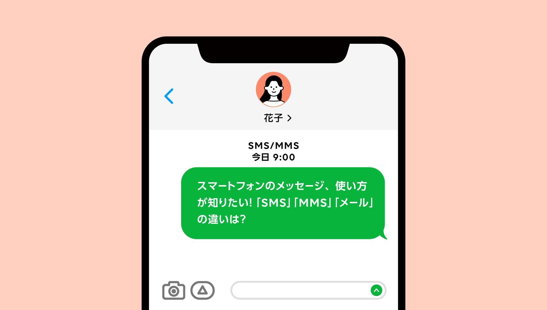 スマートフォンのメッセージ、使い方が知りたい!「SMS」「MMS」「メール」「iMessage」の違いは?