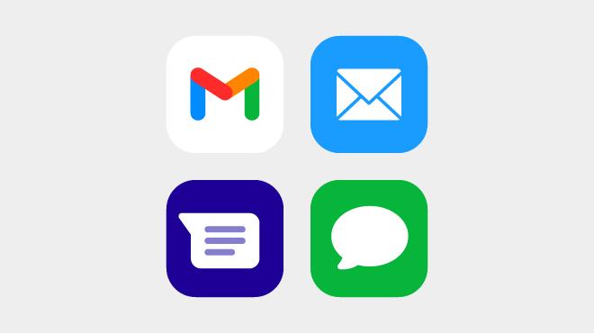 メールとSMS・MMS・iMessageの違い