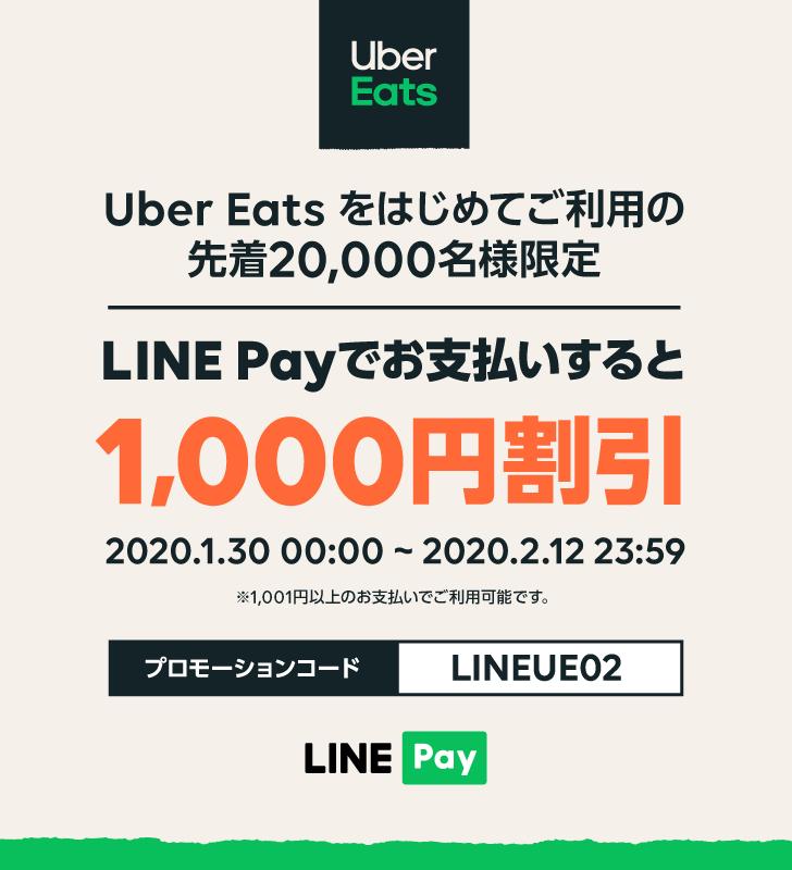 Line payカード ウーバーイーツ Uber Eats(ウーバーイーツ)をLINE